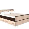 Сакура Кровать 1,4 (БТС) венге/лоредо